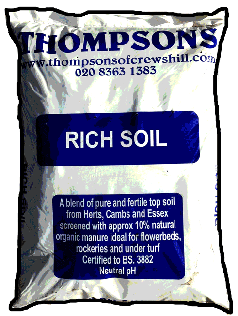 Soils root zone sterilied loam and lawn dressing for Rich soil definition
